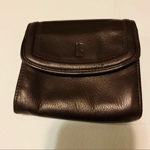 LIz Claiborne wallet brown 5 inches by 4 inches